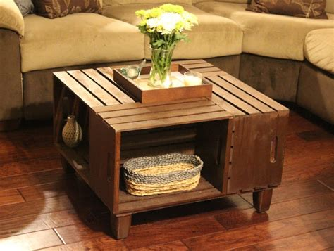 Diy Wooden Crate Coffee Table by 20 Diy Wooden Crate Coffee Tables Guide Patterns