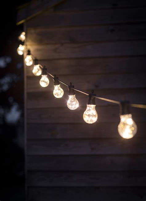 Yard Light Fixtures Festoon Lights Classic 10 Bulbs Garden Trading