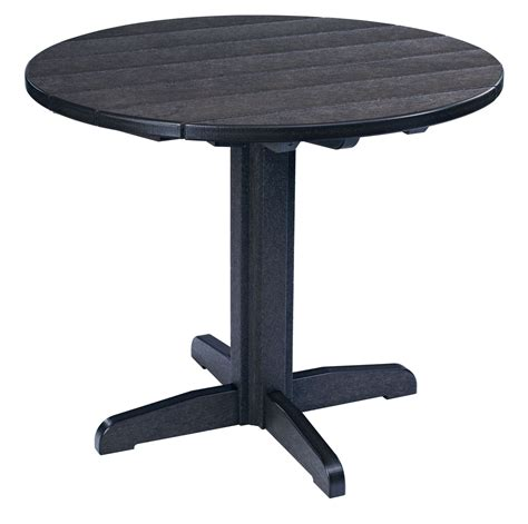 black pedestal dining table generations black 37 quot pedestal dining table from cr