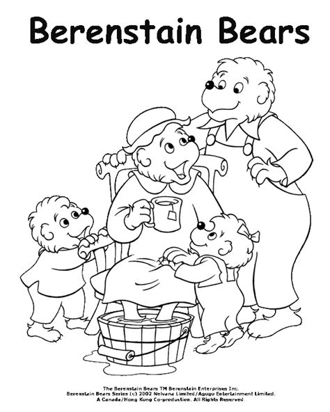 The Berenstain Bears Coloring Pages coloring activity pages the berenstain bears pering coloring page