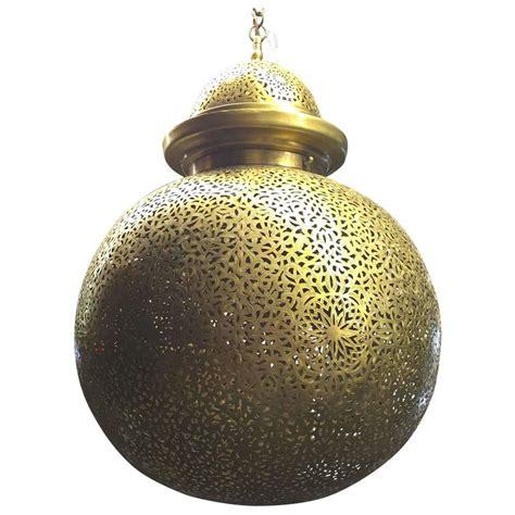 large moroccan chandelier large brass moroccan globe chandelier for sale at 1stdibs