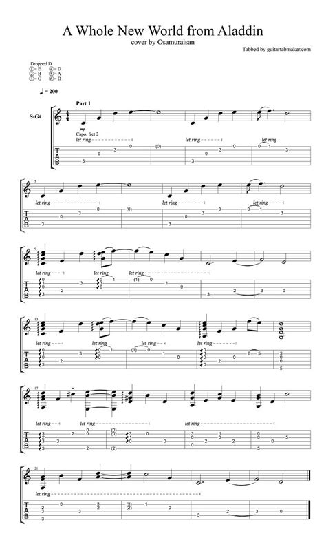 fingerstyle tutorial pdf a whole new world fingerstyle guitar tab pdf guitar