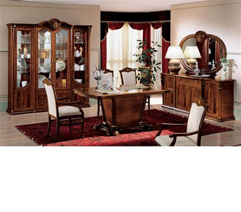 Dining Room Sets Made In Italy Dreamfurniture Klassica Traditional Italian Dining
