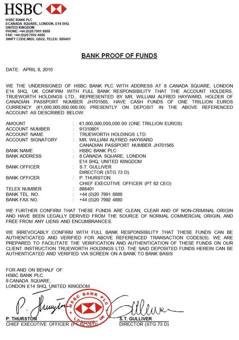 Proof Of Funds Letter Hsbc bill hayward johannes riyadi hsbc 1t pof ppp