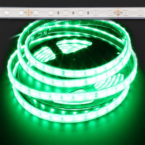 green led light strips green waterproof 5050 72w led light