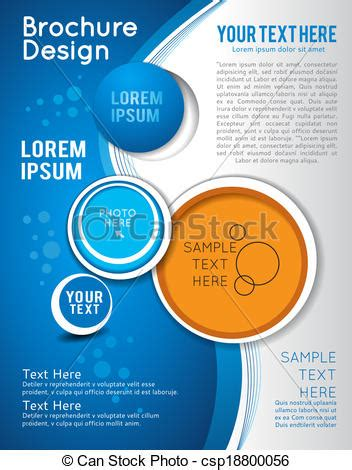 graphic design leaflet vector clipart vector of background with wave brochure design