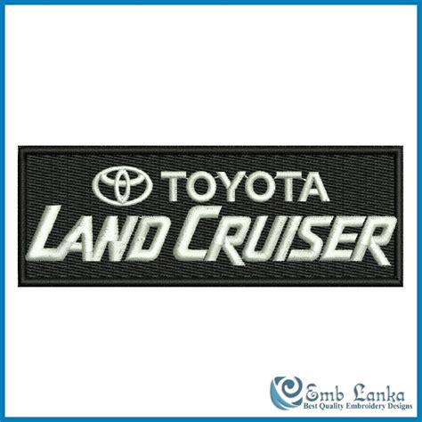 logo toyota land cruiser toyota land cruiser logo 3 embroidery design emblanka com