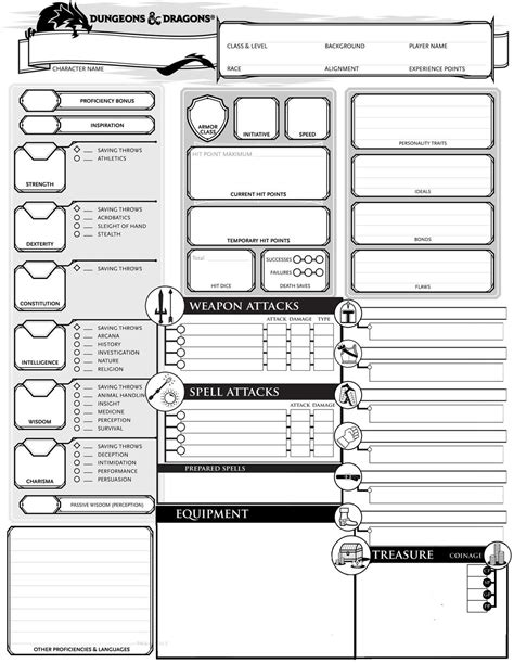Dungeon Dragons Adventure System Large Villain Card Template by Character Sheet 1 2 Print Version Page 1 Postimage Org