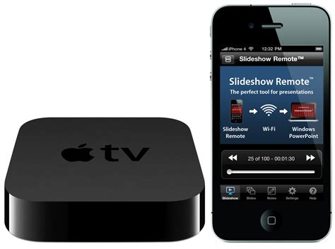 apple tv from iphone slideshow remote iphone application