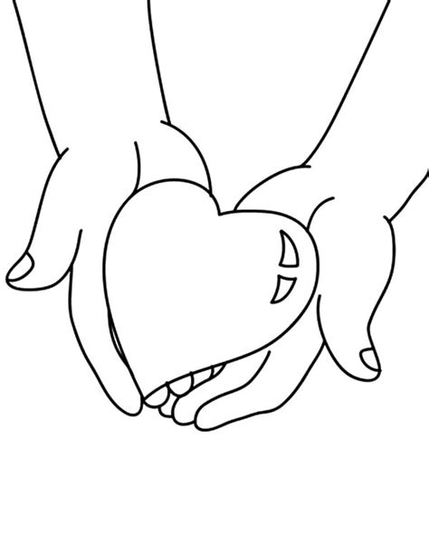 coloring pages of big hearts coloring pages of hands coloring pages for hand