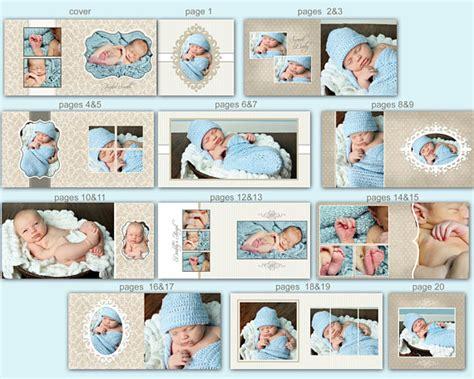 Baby Album Templates instant 10x10 baby album template 0350