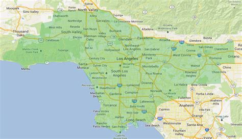 map of los angeles county map los angeles county my