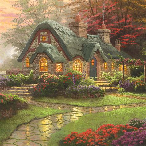 cottage kinkade make a wish cottage limited edition the
