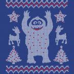 walking dead inspired ugly christmas sweater style print  shirt  crew sweatshirt