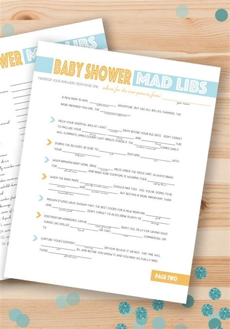 Baby Shower Mad Libs by Free Printable Baby Shower Mad Libs Entertaining