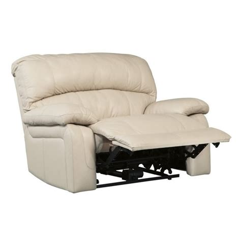 damacio leather zero wall wide seat recliner in