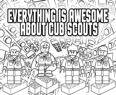 Cub Scout Coloring Page akela s council cub scout leader everything is awesome about cub scouts lego