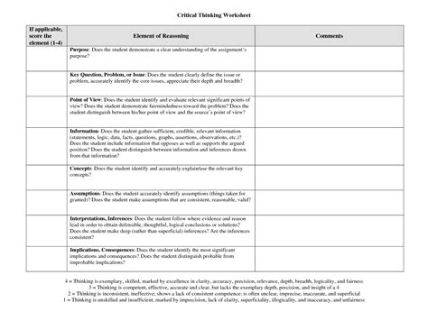 Critical Thinking Worksheets by 14 Best Images Of The 4 Stages Of Critical Thinking