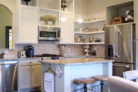 open shelf corner kitchen cabinet chalk painted kitchen cabinets cottage kitchen redo