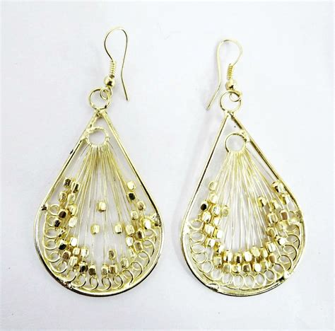 Beaded Earrings threaded earrings indiverve retail company inc
