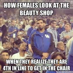 Meme Beauty Shop - how females look at the beauty shop