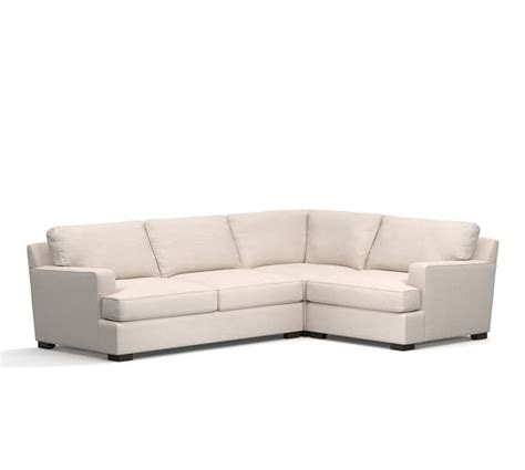 townsend sectional townsend upholstered square arm 3 piece sectional with