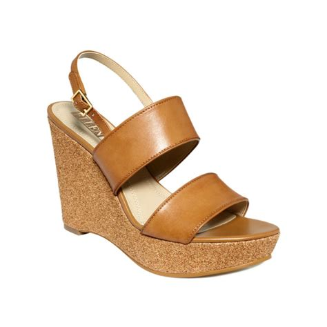 tracy sandals tracy platform wedge sandals in brown cuio gold
