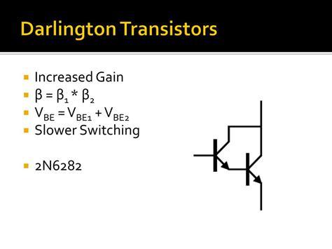 darlington transistor characteristics transistor darlington exercice 28 images schematic transistor jfet characteristics