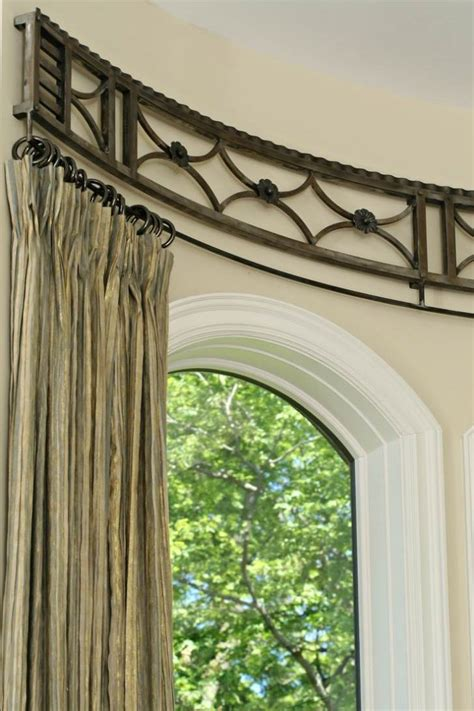 window treatments curtain rods curved window curtain rods for extraordinary
