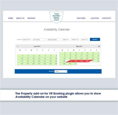 Availability Calendar Availability Calendar Add On By Myhotelzone Codecanyon