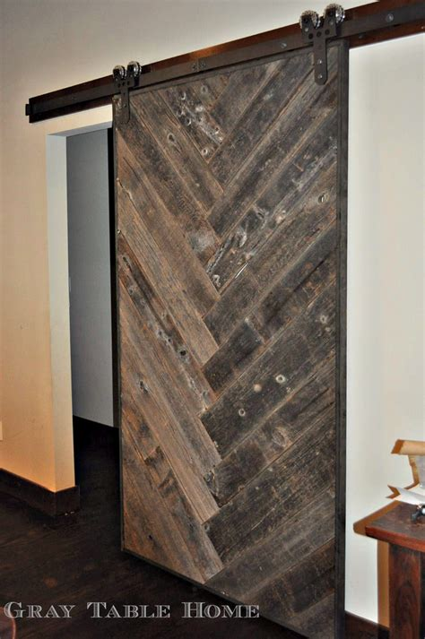 Barns Doors White Diy Herringbone Barn Door Diy Projects
