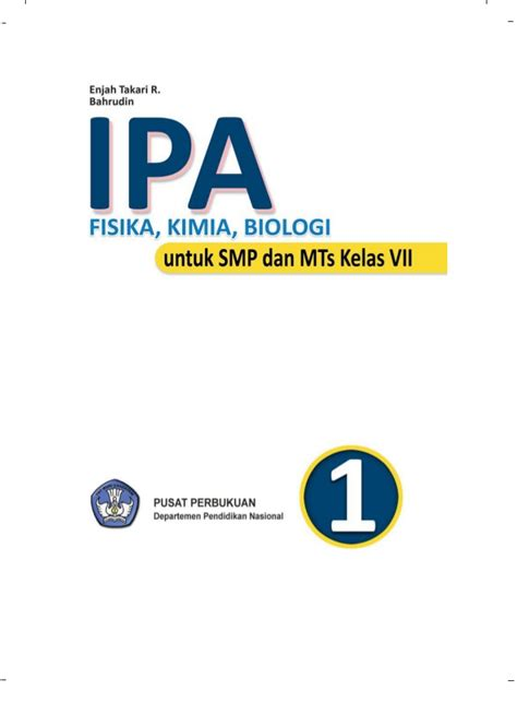 Ipa Biologi 1 Untuk Smp Mts Kelas Vii Kurikulum 2013 Buku Pendidika ipa fisika kimia biologi
