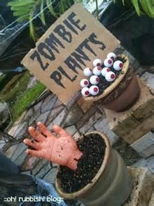 Zombie Decorations For Halloween Diy Zombie Plants Zombie Halloween Decorating Ideas