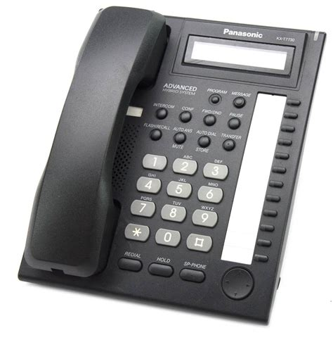Panasonic Telepon Kx T7730x panasonic kx t7730x b black display phone
