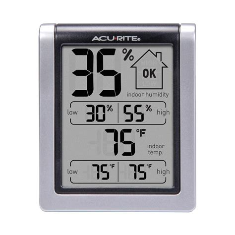 analog wall clock with humidity gage temperature gage cmhg gage humidity with temperature sensor acurite