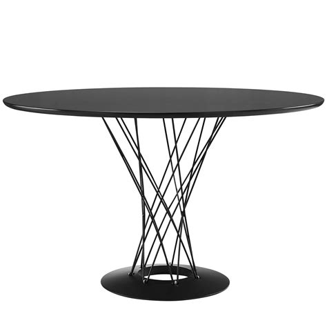 cyclone dining table cyclone modern 47 quot wood top dining table with steel wired