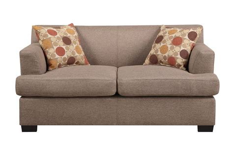 couch and loveseats poundex montreal v f7967 beige fabric loveseat steal a