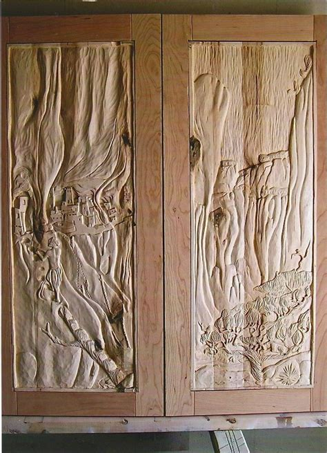 custom made cabinet doors carved de chelly