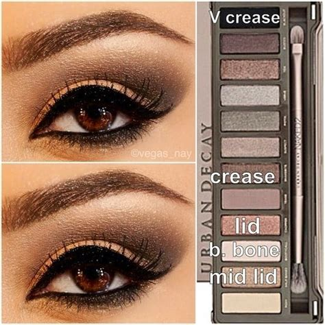 eyeshadow tutorial urban decay 3 naked 2 palette tutorial