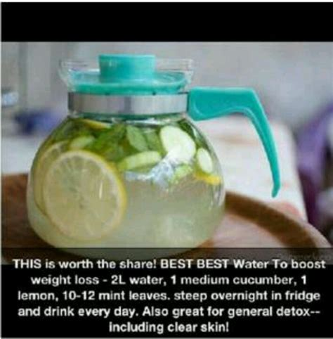 Detox Water For Dieting by Cucumber Lemon Mint Water Detox Food