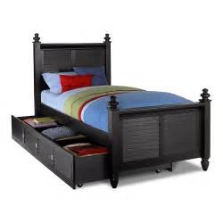 Twin Trundle Bed Set Seaside Twin Bed With Trundle Black American Signature