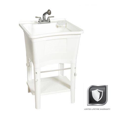 bathtub laundry glacier bay all in one 24 in x 24 in 20 gal heavy duty