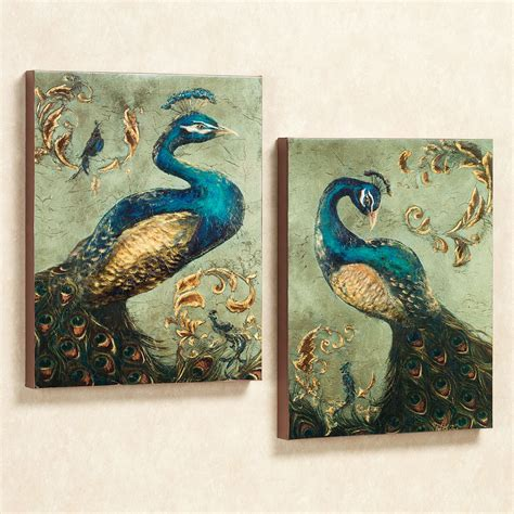 peacock home decor sale peacock canvas wall art set