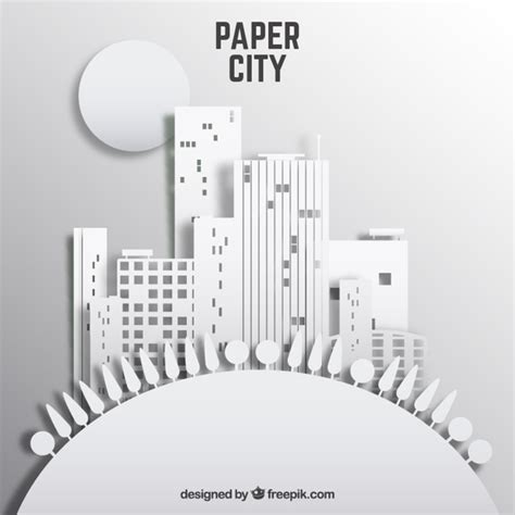 paper city template paper city vector free