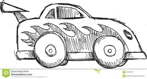 doodle race doodle race car vector stock vector image 51076371