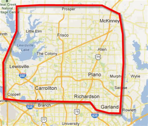 map of plano texas and surrounding areas service areas dallas plano frisco mckinney allen legacy plumbing frisco allen