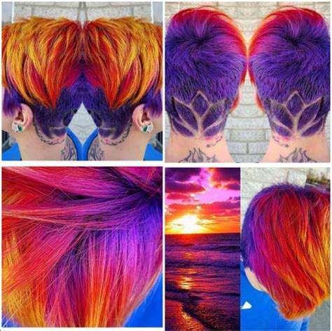 sunset colored hair sunset color empire photos
