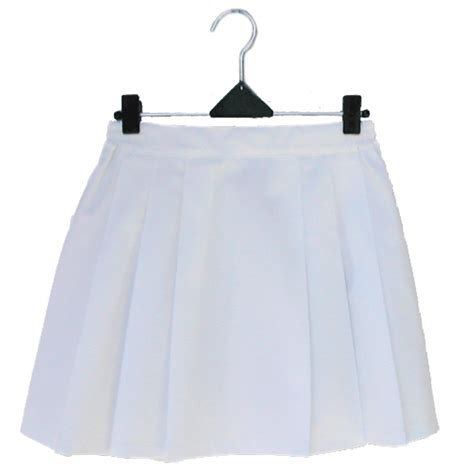 six pleat skirt prestalene white the netball shop