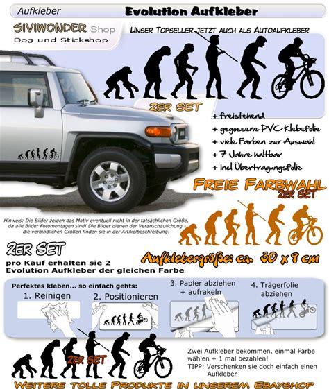 Auto Aufkleber Mtb by Auto Aufkleber Mountainbike Fahrrad Evolution Bike