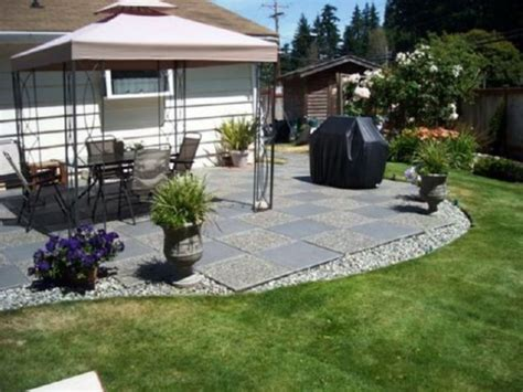small concrete backyard ideas perfect inexpensive patio design ideas patio design 233